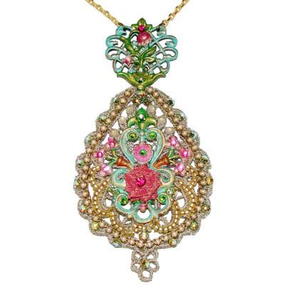 Michal Negrin Lace Medallion Necklace