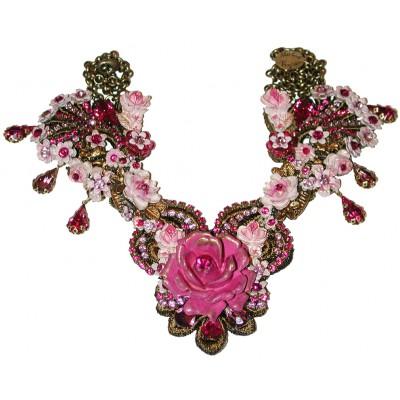 Michal Negrin Fuchsia Rose Garden Necklace