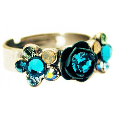 Michal Negrin Turquoise Rose Ring