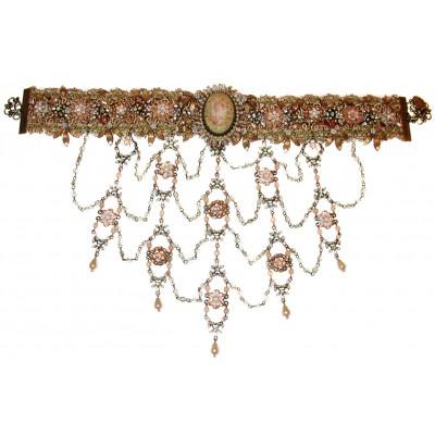 Michal Negrin Baroque Cameo Choker Necklace