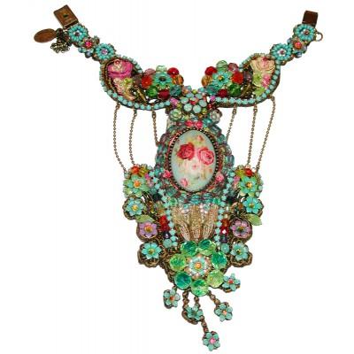 Michal Negrin Multicolor Lace Slave Bracelet