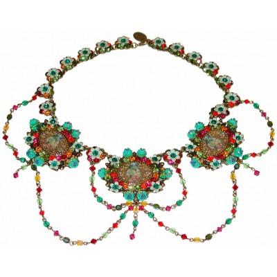 Michal Negrin Multicolor Triple Cameos Necklace