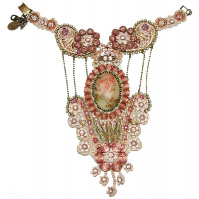 Michal Negrin Vintage Style Lace Slave Bracelet