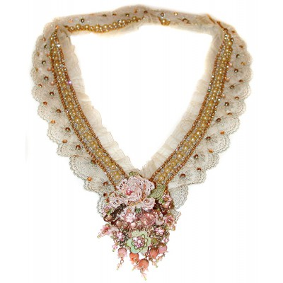 Michal Negrin Baroque Lace Marie Necklace