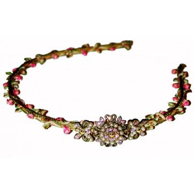 Michal Negrin Crystal Flower Headband