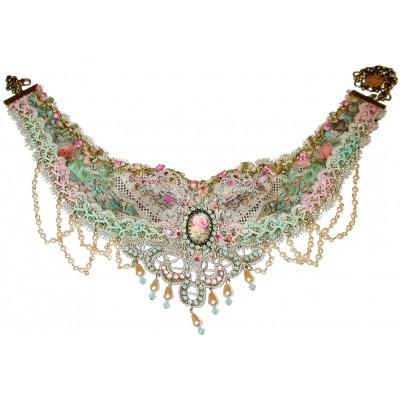 Michal Negrin Vintage Style Lace Necklace