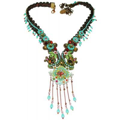 Michal Negrin Multicolor Floral Necklace