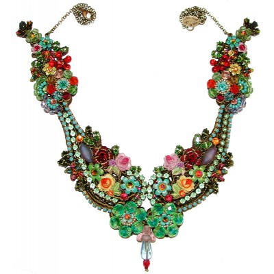 Michal Negrin Multicolor Flowers Necklace