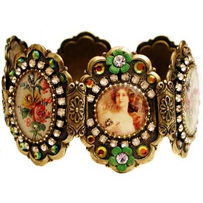 Michal Negrin Vintage Style Cameos Bracelet