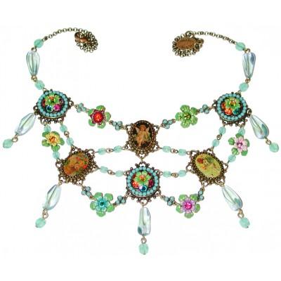 Michal Negrin Multicolor Cameos Necklace