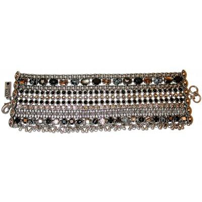 Amaro Tribal Black Silver Bracelet