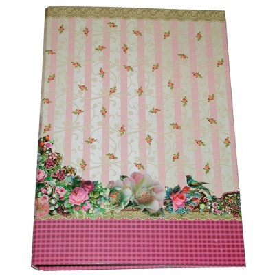 Michal Negrin Pink Roses A4 Ring Binder