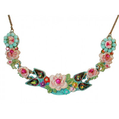 Michal Negrin Multicolor New York Roses Necklace