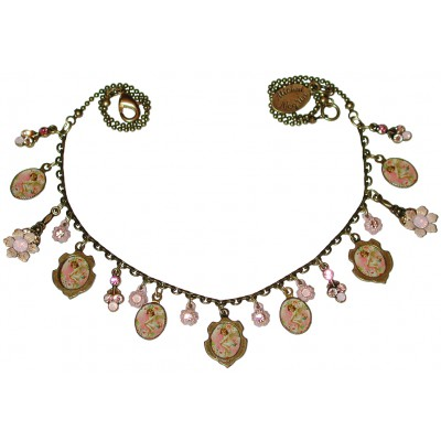 Michal Negrin Seven Cherub Cameos Necklace