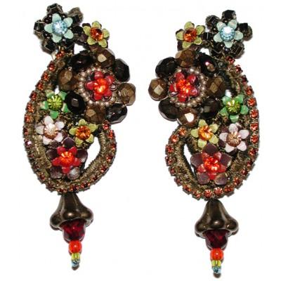 Michal Negrin Lace Clip Earrings