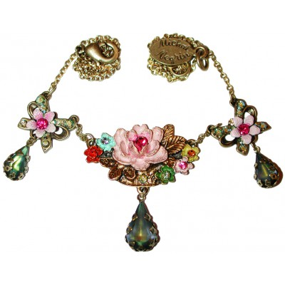 Michal Negrin Multicolor Roses Necklace