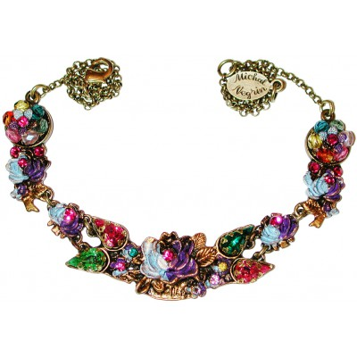 Michal Negrin Multicolor Tiedye New York Roses Necklace