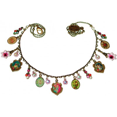 Michal Negrin Pink Cameos Necklace