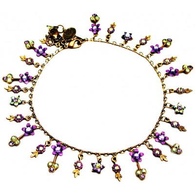 Michal Negrin Purple Green Anklet