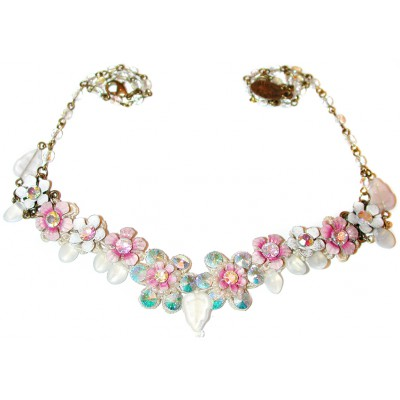 Michal Negrin Pink Aurora Borealis  Necklace