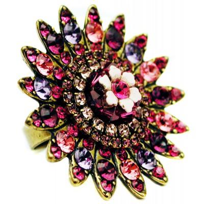 Michal Negrin Purple Pink Sun Ring