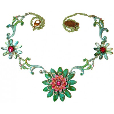 Michal Negrin Green Bohemian Necklace