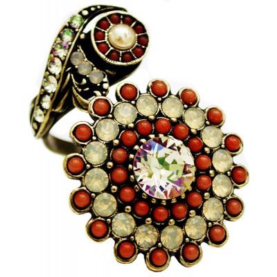Michal Negrin Sunflower Spiral Ring