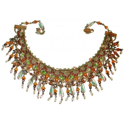 Michal Negrin Beaded Lace Necklace