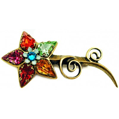 Michal Negrin Multicolor Starflower Brooch