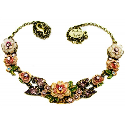 Michal Negrin Lilac New York Roses Necklace