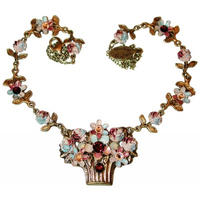 Michal Negrin Autumn Flower Basket Necklace