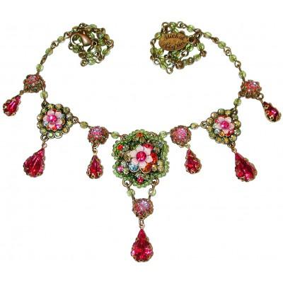 Michal Negrin Multicolor Fuchsia Necklace