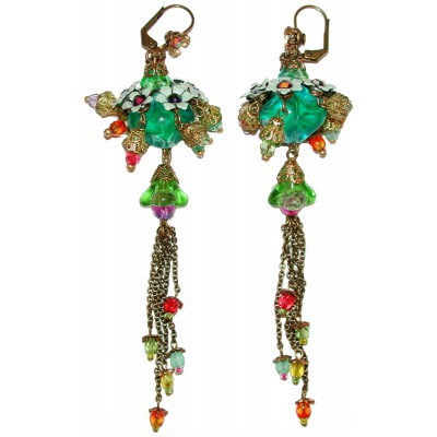 Michal Negrin Multicolor Beaded Earrings