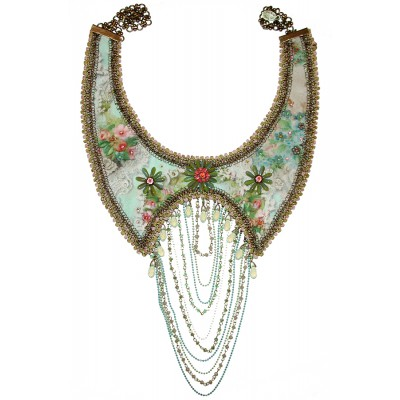 Michal Negrin Multi Chain Bib Necklace