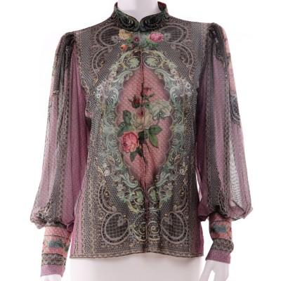 Michal Negrin Purple Victoriana Blouse