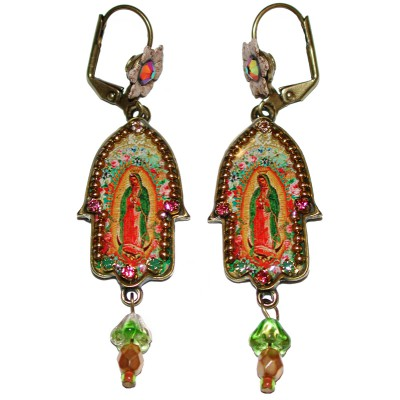 Michal Negrin Christian Iconography  Hamsa Earrings