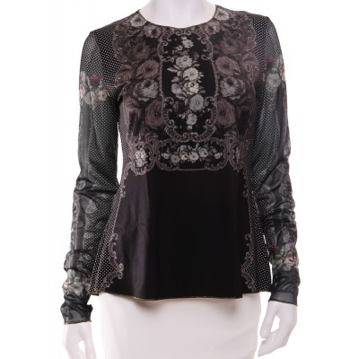 Michal Negrin Gothic Roses Long Sleeves Shirt