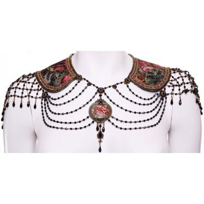 Michal Negrin Collar Neck Shoulders Runway Piece Necklace