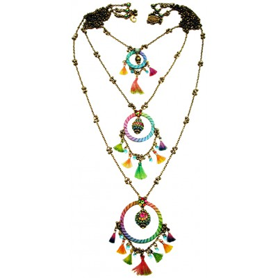 Michal Negrin Multicolor Dream Catcher Necklace