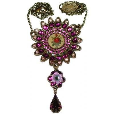 Michal Negrin Purple Rose Sun Necklace