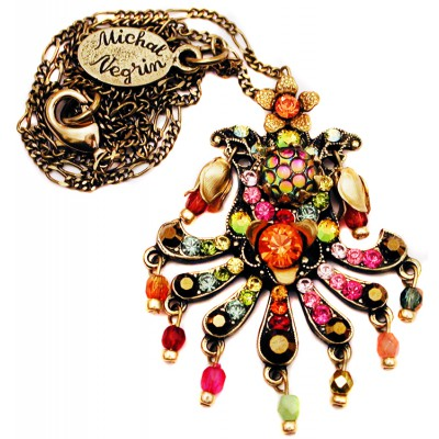 Michal Negrin Multicolor Carnival Necklace