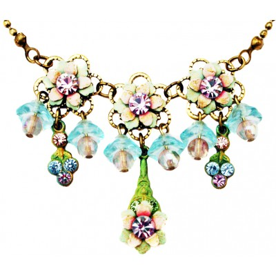 Michal Negrin Vintage Lily Bells Necklace