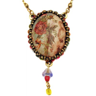 Michal Negrin Victorian Cameo Necklace