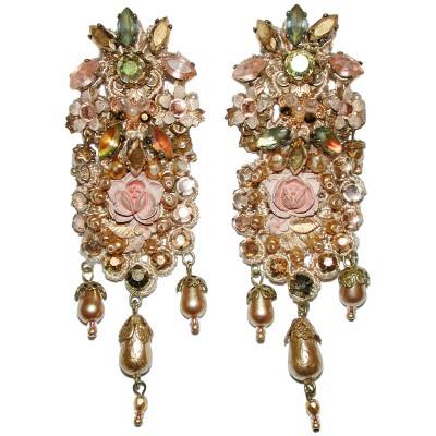Michal Negrin Romance Lace Clip Earrings