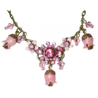 Michal Negrin Pink Bells Necklace