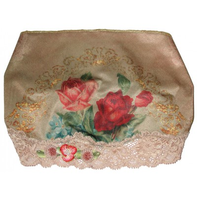 Michal Negrin Victorian Roses Print Satin Lace Headband