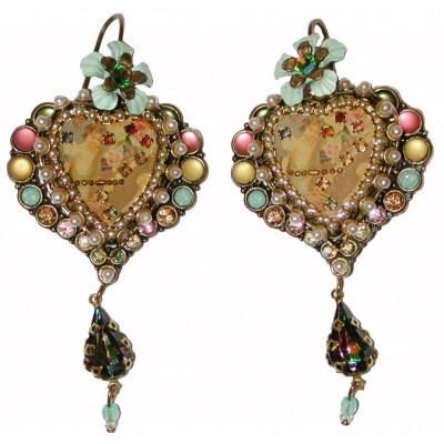 Michal Negrin Muse Pastel Pearl Heart Earrings