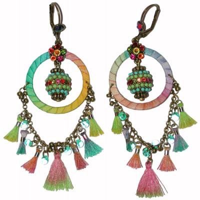 Michal Negrin Multicolor Dream Catcher Earrings