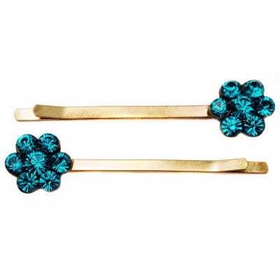 Michal Negrin Two Turquoise Hairpins