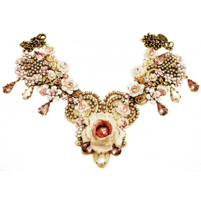 Michal Negrin Pearl Lilac Rose Garden Necklace